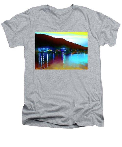 Symphony River Men's V-Neck T-Shirt
