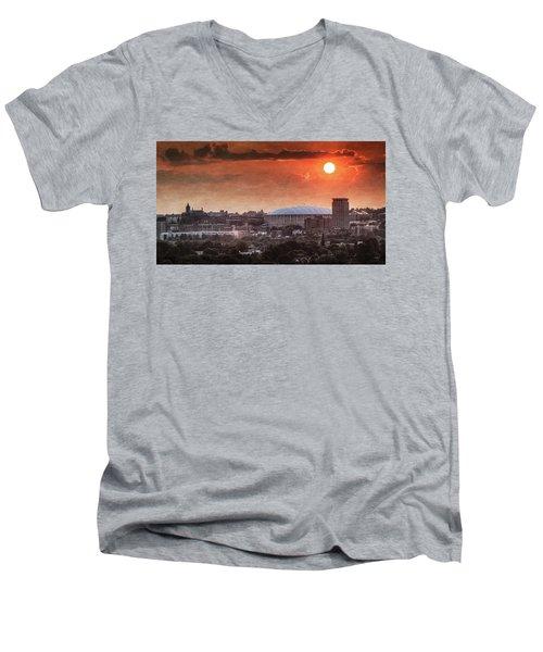 Syracuse Sunrise Over The Dome Men's V-Neck T-Shirt