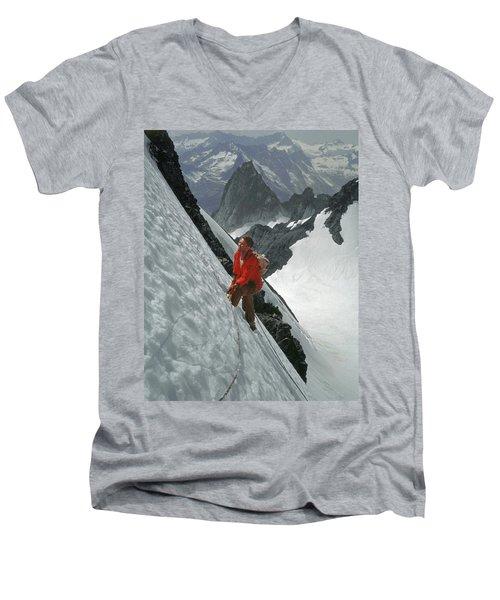 T-202707 Eric Bjornstad On Howser Peak Men's V-Neck T-Shirt