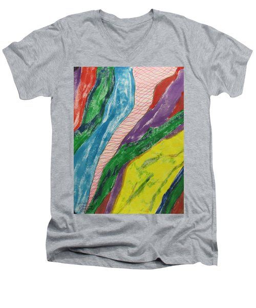 Artwork On T-shirt - 0010 Men's V-Neck T-Shirt by Mudiama Kammoh