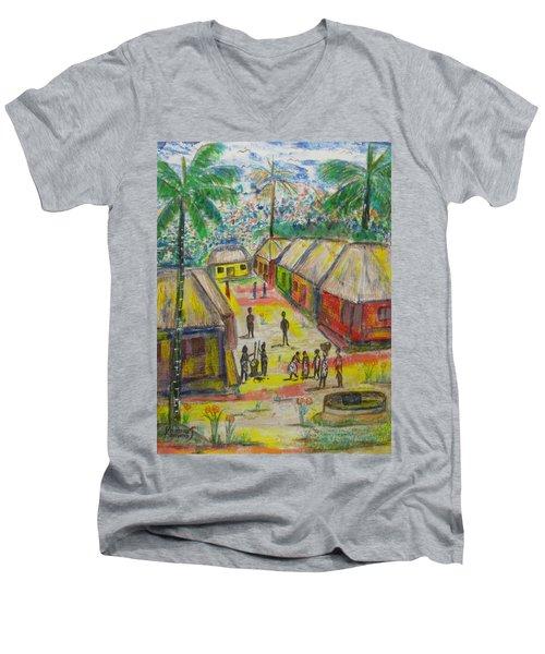 Artwork On T-shirt - 0012 Men's V-Neck T-Shirt by Mudiama Kammoh