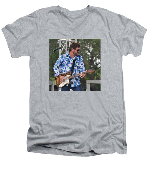 Tab Benoit And 1972 Fender Telecaster Men's V-Neck T-Shirt