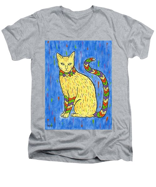 Tabby Kat Men's V-Neck T-Shirt by Susie WEBER