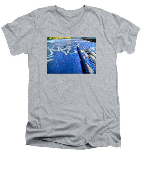 Table Graffiti Men's V-Neck T-Shirt by KD Johnson