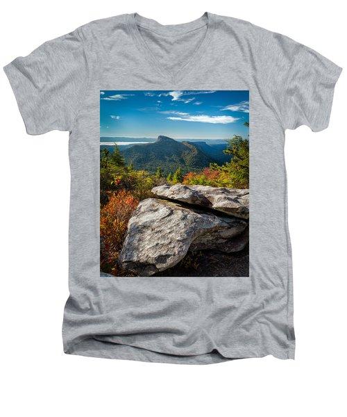 Table Rock Fall Morning Men's V-Neck T-Shirt