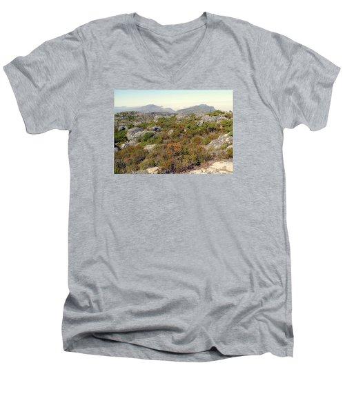 Table Rock Summit Men's V-Neck T-Shirt by John Potts