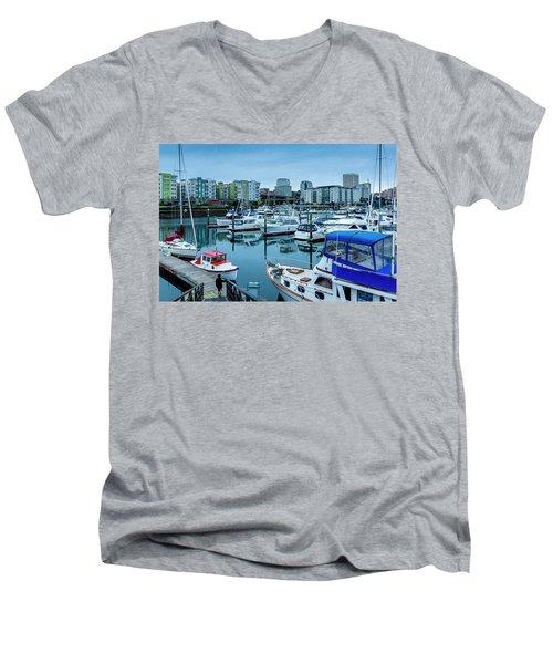 Tacoma Waterfront Marina,washington Men's V-Neck T-Shirt