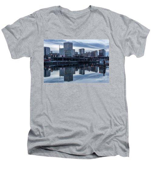 Tacoma Waterfront,washington Men's V-Neck T-Shirt