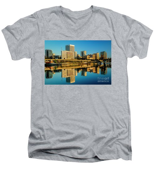 Tacoma's Waterfront,washington Men's V-Neck T-Shirt