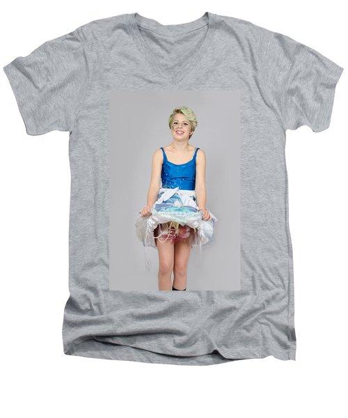 Taetyn In Jelly Fish Dress Men's V-Neck T-Shirt