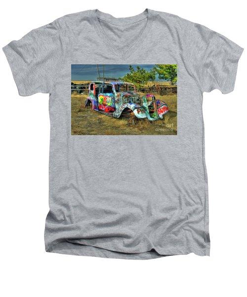 Tagged #3 Men's V-Neck T-Shirt