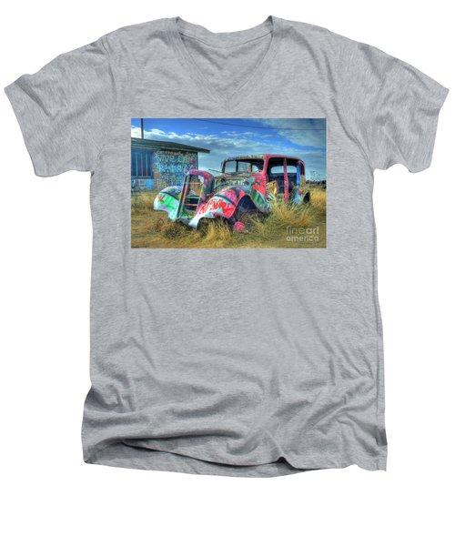 Tagged Men's V-Neck T-Shirt