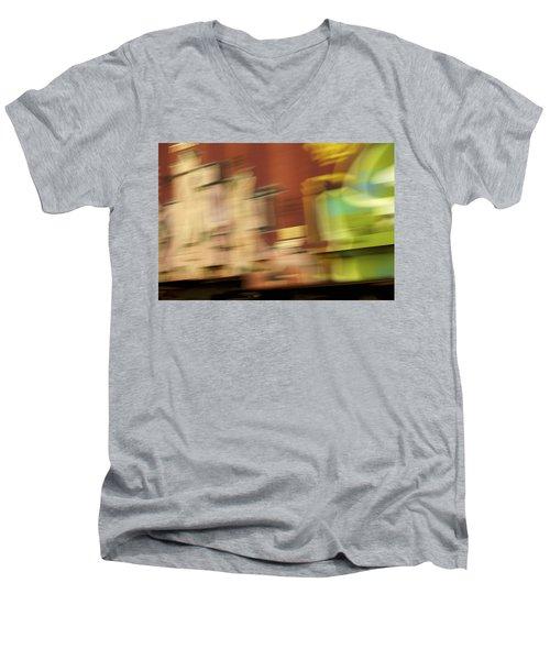 Tagged - Train Graffiti Men's V-Neck T-Shirt