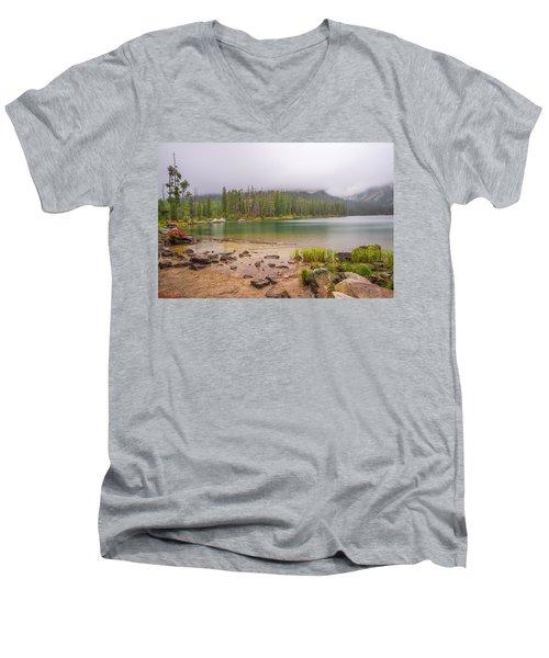 Taggert Lake Grand Teton Men's V-Neck T-Shirt