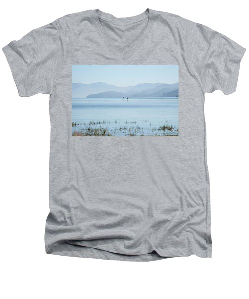 Tahoe Paddle Boarders Men's V-Neck T-Shirt