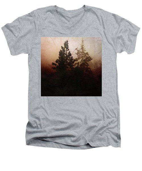 Tahoe Pines Men's V-Neck T-Shirt