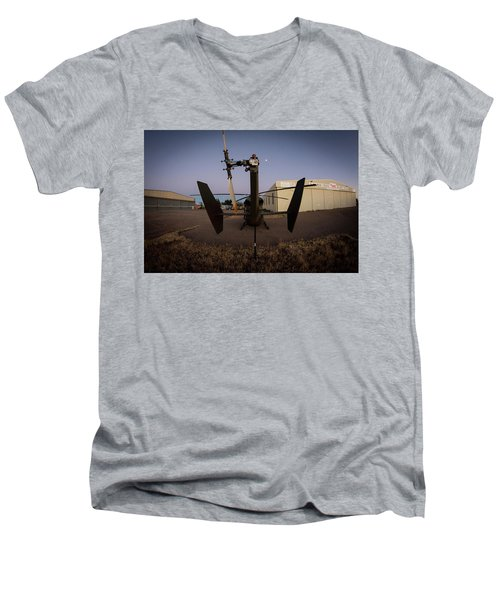 Men's V-Neck T-Shirt featuring the photograph Tailblade by Paul Job