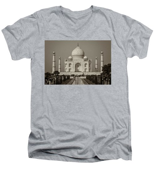 Taj Mahal Men's V-Neck T-Shirt by Hitendra SINKAR