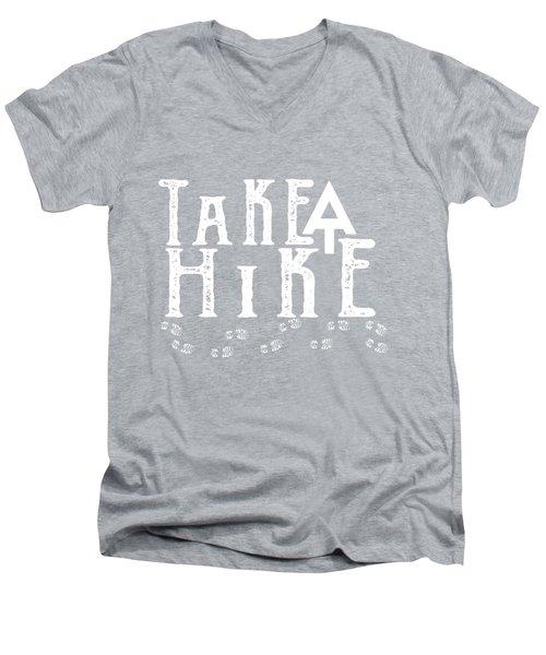 Take A Hike  Men's V-Neck T-Shirt by Heather Applegate