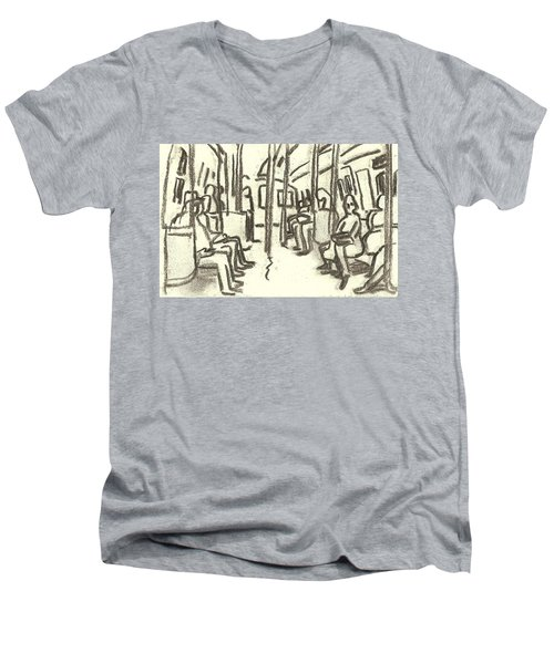 Take The A Train, Nyc Men's V-Neck T-Shirt