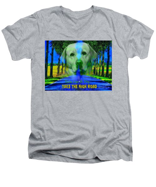 Take The High Road Men's V-Neck T-Shirt