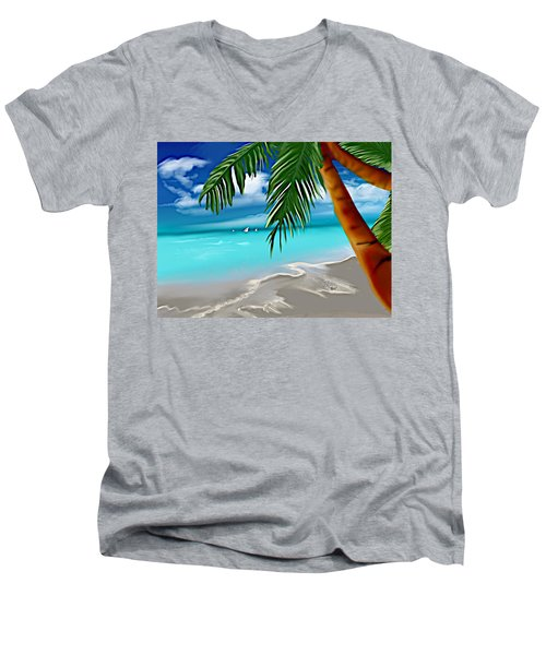 Takemeaway Beach Men's V-Neck T-Shirt