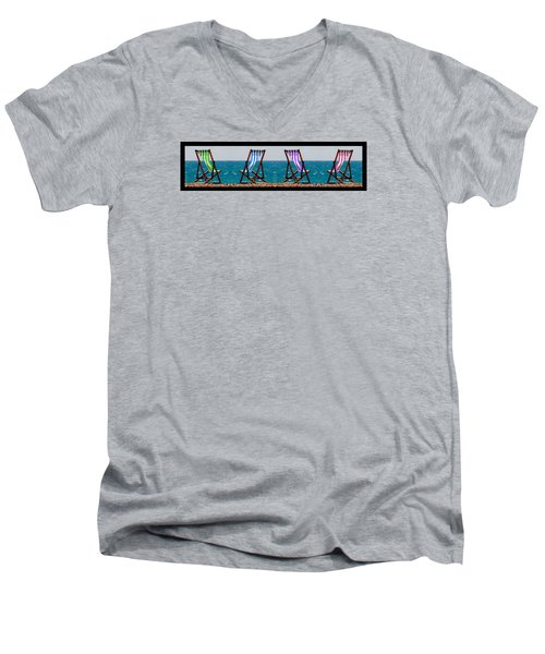 Taking A Dip Men's V-Neck T-Shirt by Bruce Nutting
