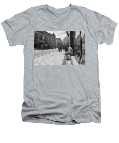 Taking A Nap Men's V-Neck T-Shirt