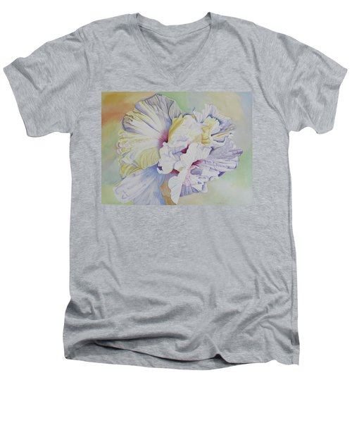Men's V-Neck T-Shirt featuring the painting Taking Flight by Teresa Beyer