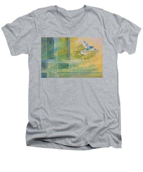 Taking Flight To The Light Men's V-Neck T-Shirt