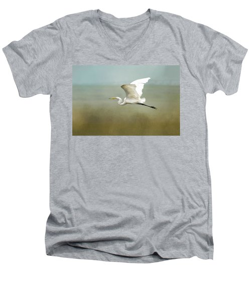 Taking Off  Men's V-Neck T-Shirt by Betty Pauwels