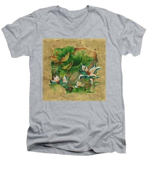 Talks About The Essence Of Life Men's V-Neck T-Shirt by Anna Ewa Miarczynska
