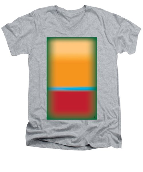 Tall Abstract Color Men's V-Neck T-Shirt