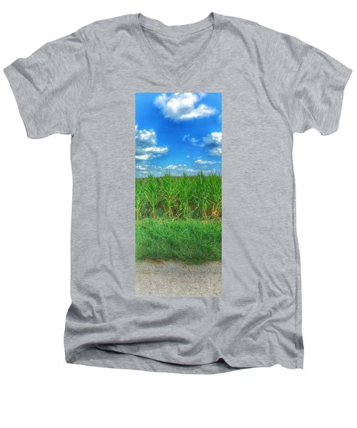 Men's V-Neck T-Shirt featuring the photograph Tall Corn by Jame Hayes