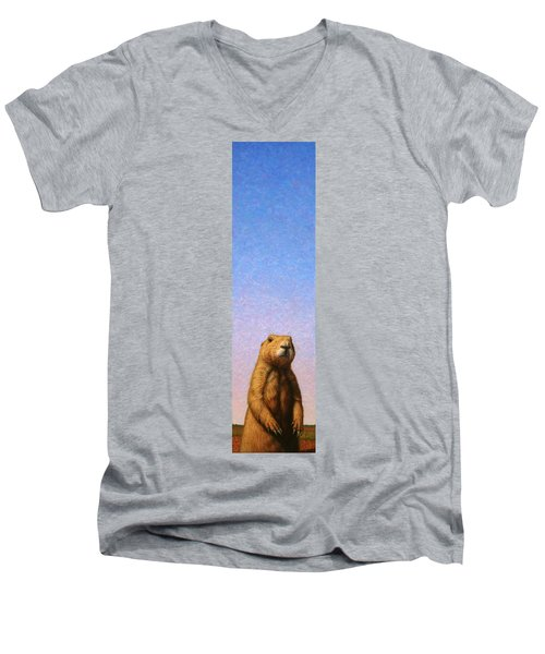 Tall Prairie Dog Men's V-Neck T-Shirt