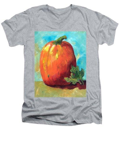 Tall Pumpkin Men's V-Neck T-Shirt