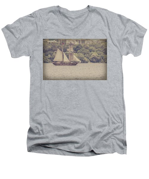 Tall Ship - 2 Men's V-Neck T-Shirt