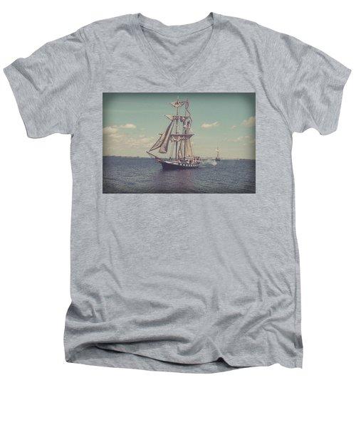 Tall Ship - 3 Men's V-Neck T-Shirt