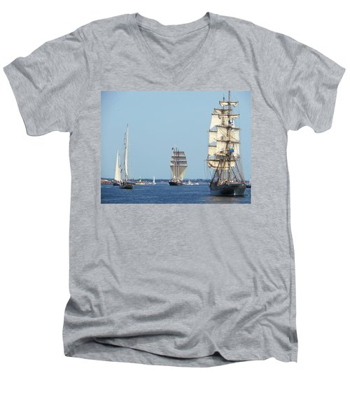 Tallships At Aarhus Men's V-Neck T-Shirt