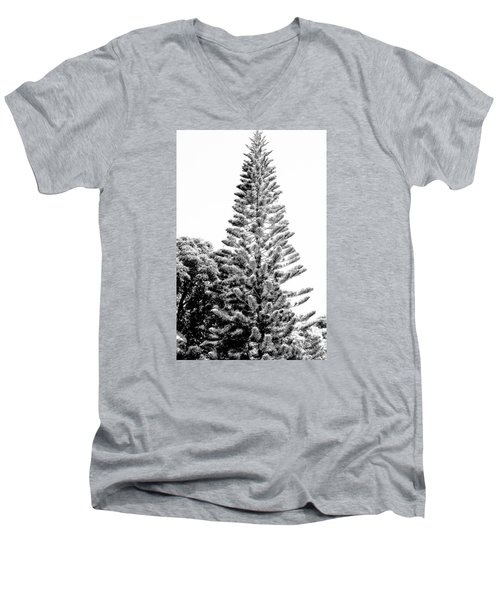 Tall Tree Bw - Lan11 Men's V-Neck T-Shirt