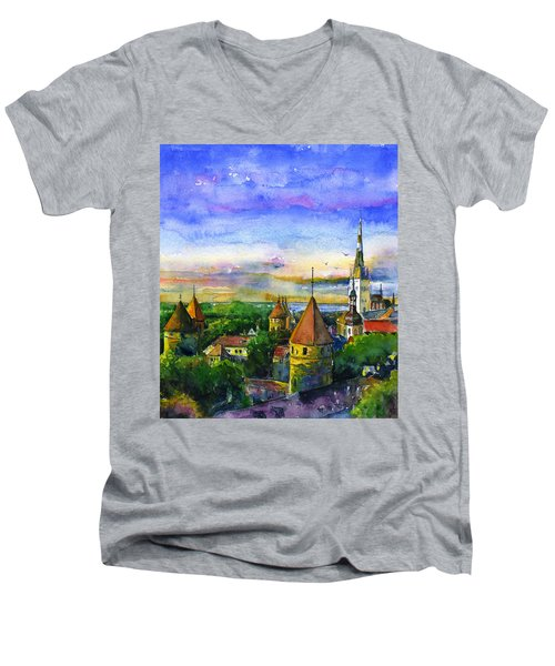 Tallinn Estonia Men's V-Neck T-Shirt