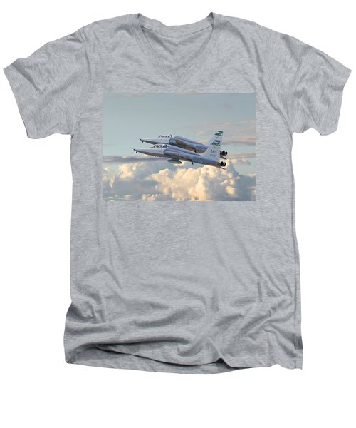 Men's V-Neck T-Shirt featuring the photograph Talon T38 - Supersonic Trainer by Pat Speirs
