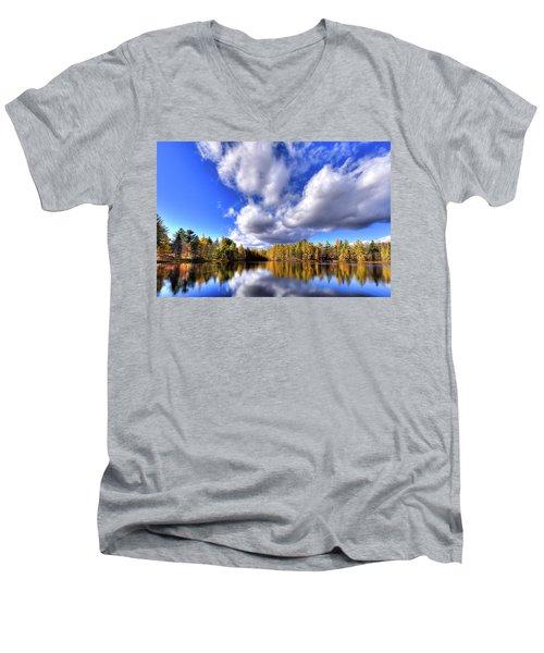 Tamarack Reflections In The Adirondacks Men's V-Neck T-Shirt