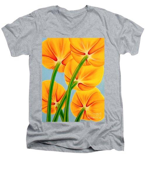 Tangerine Men's V-Neck T-Shirt