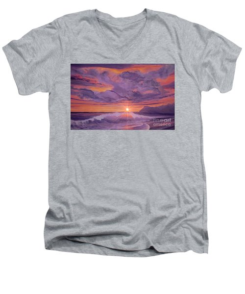 Tangerine Sky Men's V-Neck T-Shirt