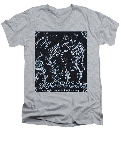 Tangle Flowers Men's V-Neck T-Shirt