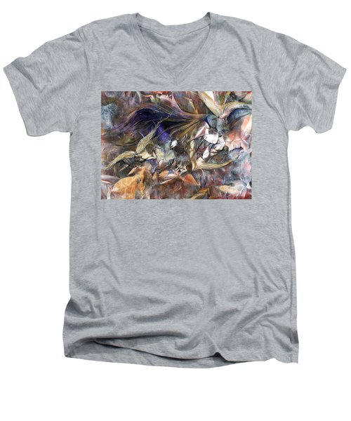 Tango Birds Men's V-Neck T-Shirt