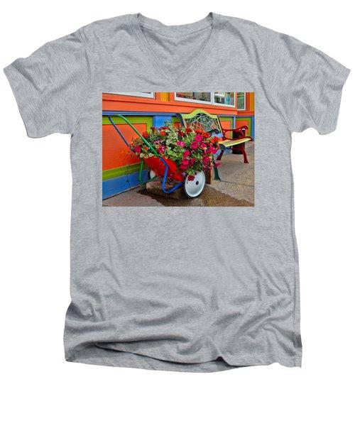 Tannersville Color Blast Men's V-Neck T-Shirt