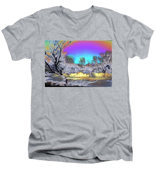Tanque Verde Wash Abstract Men's V-Neck T-Shirt