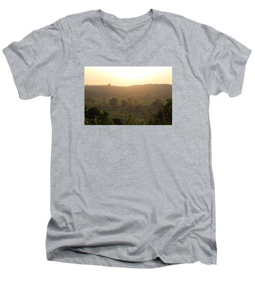 Tansa Valley, Vajreshwari From The Devi Temple Complex Men's V-Neck T-Shirt by Jennifer Mazzucco